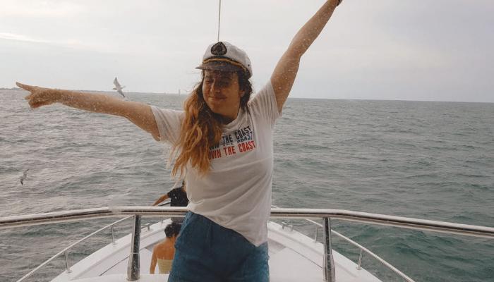 Trabalho na Itália – Fotografa em um barco