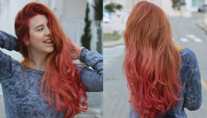Blorange ou rose gold hair – Meu novo tom de ruivo
