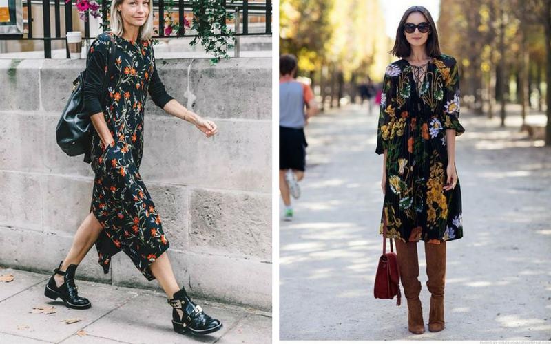 floral dress (vestido longo e com estampa floral)