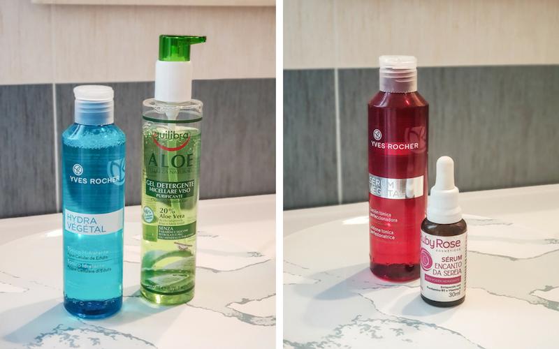 skin care routine - pele mista - oleosa - produtos - passo a passo - caos arrumado