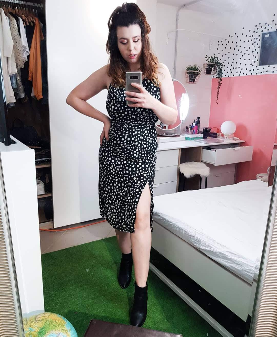 Um vestido 3 looks | Vestido midi de poa como combinar?