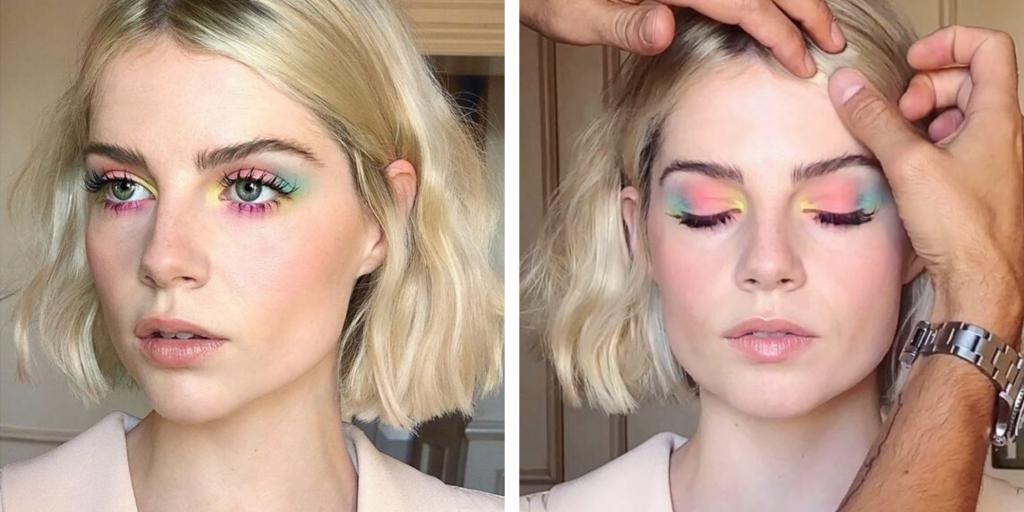 Delineadores coloridos | Maquiagem criativa