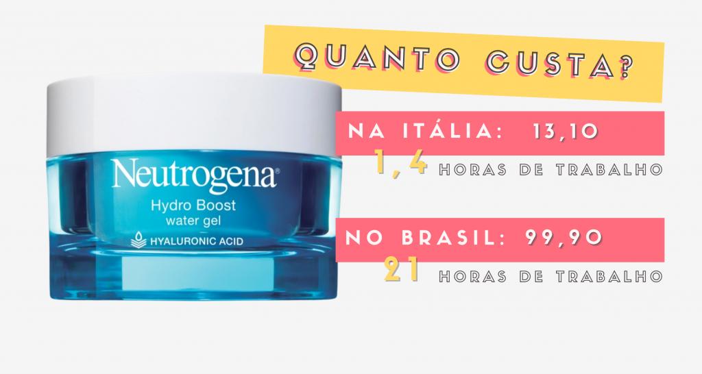 Quanto custa na Itália cosmeticos neutrogena