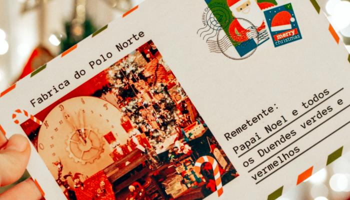 Cartão Postal do Papai Noel para imprimir grátis! Natal na Itália