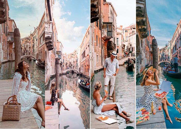 Guia Fotografico em Veneza A doca atrás do Hotel San Moisè