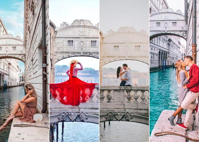 Onde tirar fotos em Veneza | Pontos Instagramaveis | Ponte dei Suspiri (a ponte dos suspiros)